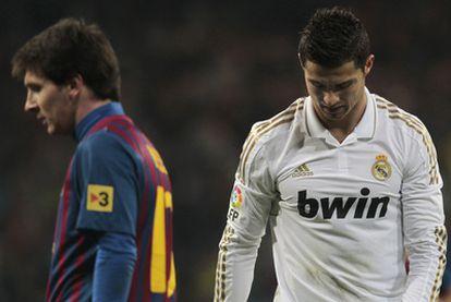 Messi y Cristiano, en el clásico del Bernabéu.