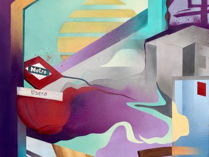 'Usera', obra donada por Raquel de la Coba.