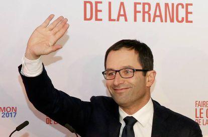Benoit Hamon, candidato a liderar el partido socialista francés, el pasado 22 de enero de 2017.