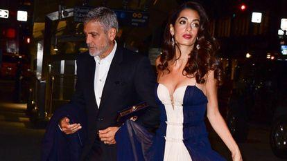Los Clooney en un evento en Nueva York este 5 de diciembre.