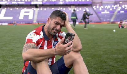 Luis Suárez, del Atletico de Madrid al final del partido contra el Valladolid