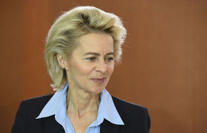 La ministra de Defensa alemana Ursula von der Leyen el 29 de septiembre en Berlín.