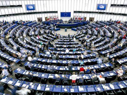 El hemiciclo del parlamento europeo de Estrasburgo.