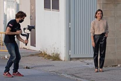 Tamara Falcó, durante un rodaje en Madrid el día 13 de noviembre.