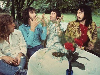 The Who el 15 de julio de 1971 en Surrey, Inglaterra. De izquierda a derecha: Roger Daltrey, Pete Townshend, Keith Moon y John Entwistle.