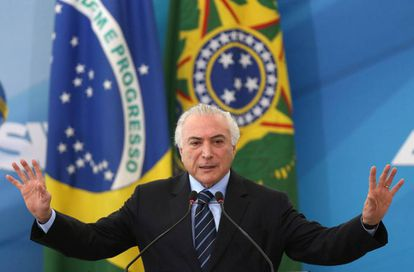 El presidente brasileño Michel Temer, esta semana en Brasilia