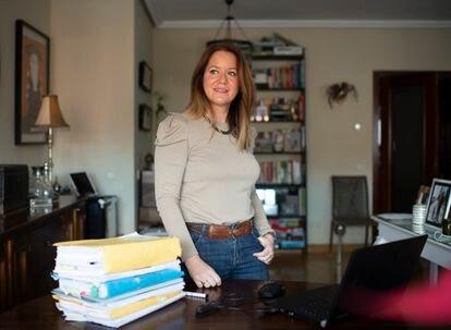 Natalia Velilla, en su casa, el pasado viernes.