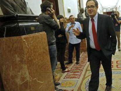 Pere Macias en los pasillos del Congreso.