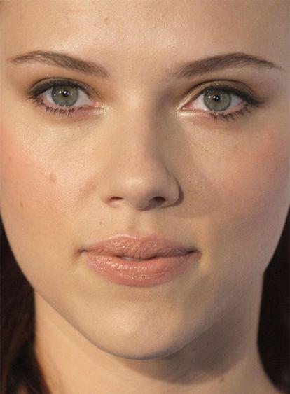 Scarlett Johansson, ayer en Madrid.