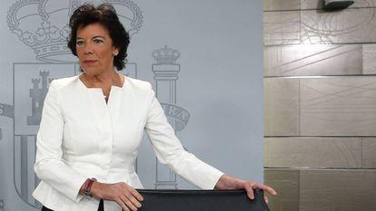 La ministra Celaá, el pasado 27 de septiembre.