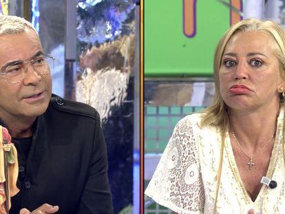 Jorge Javier Vázquez y Belén Esteban, el martes en 'Sálvame'.