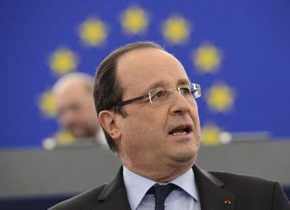 Hollande, en el Parlamento europeo.