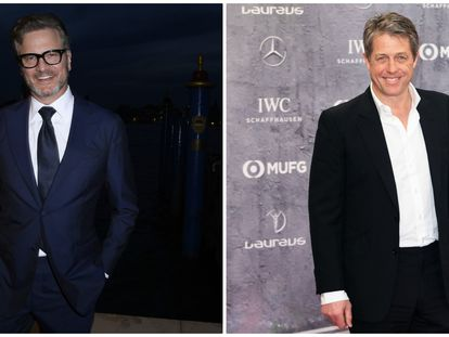 Los actores Colin Firth (izquierda) y Hugh Grant.