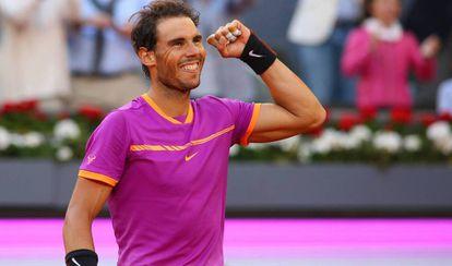 Rafa Nadal, en la Mutua Madrid Open.