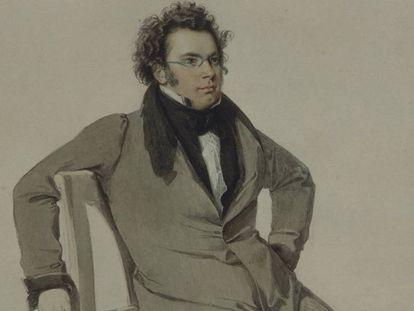 Retrato sin datar de Schubert, autor de la 'Sinfonía inacabada'.