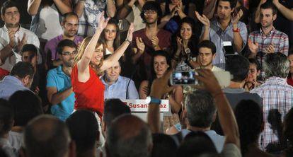 Susana Díaz, recién elegida candidata a la presidencia de la Junta.