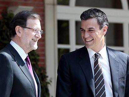 Rajoy y Sánchez, en Moncloa.