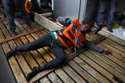 La mujer migrante rescatada por el Open Arms tras el naufragio a raíz del cual falleció su bebé el pasado día 12.