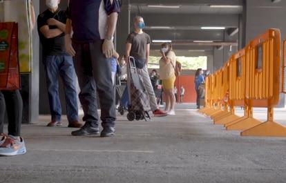 El entorno del campo de fútbol del Mestalla, en Valencia.