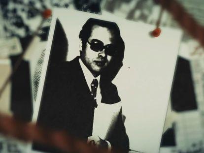 Un montaje con la foto del agente egipcio Ashraf Marwan en el documental 'Ashraf Marwan: Death of a Superspy' (2020).