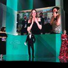 """GRAF9827. MÁLAGA, 06/03/2021.- La directora Pilar Palomero (en la pantalla) recibe el Goya a la Mejor Dirección Novel por """"Las Niñas"""", en la gala de la 35 edición de los Premios Goya que se celebra hoy sábado en el Teatro del Soho CaixaBank de Málaga. EFE/Premios Goya/ Miguel A. Cordoba ***SOLO USO EDITORIAL/SOLO DISPONIBLE PARA ILUSTRA LA NOTICIA QUE ACOMPAÑA /CRÉDITO OBLIGATORIO***"""