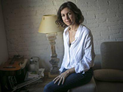Cristina Campos en su estudio de Barcelona.