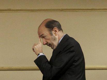 Alfredo Pérez Rubalcaba en el Congreso de los Diputados en octubre de 2012.