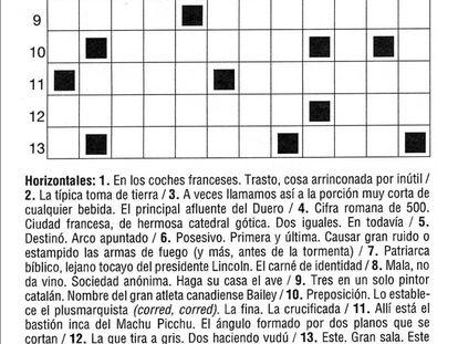 El primer crucigrama de Mambrino para EL PAÍS.