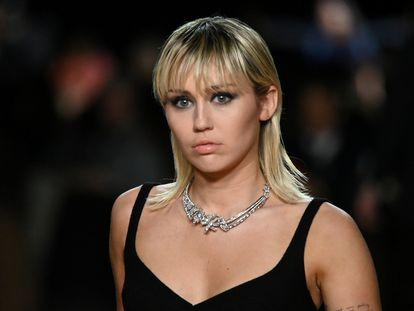 Miley Cyrus, en semana de la moda de Nueva York en febrero.