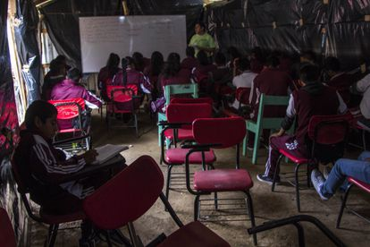 Una escuela de educación primaria en el Estado de Oaxaca.