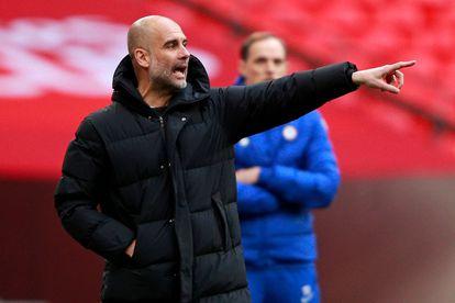 El entrenador español del Manchester City, Pep Guardiola, durante el partido contra el Chelsea.