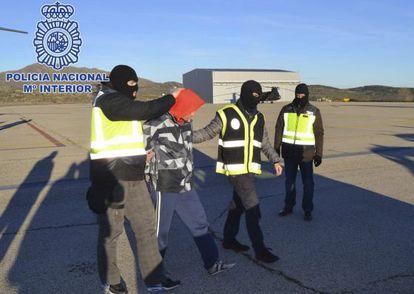 Uno de los detenidos, en una foto difundida por la policía.