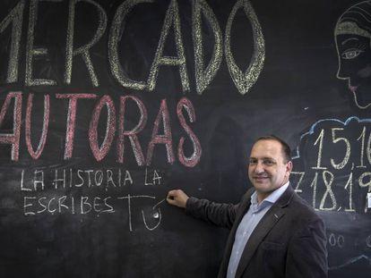 Rubén Martínez, candidato de Unides Podem en las elecciones valencianas, en la sede de Podem de Valencia.