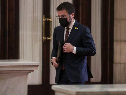 Pere Aragonès, el viernes pasado en el Parlament.
