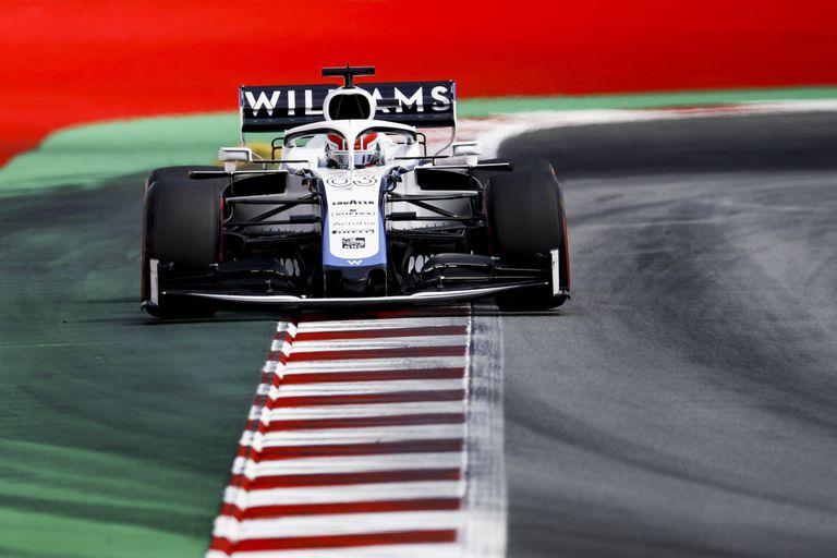 Russell, en un momento del gran premio de España, en Montmeló, con su Williams.