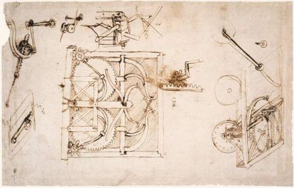 Diseño de un automóvil de Leonardo da Vinci
