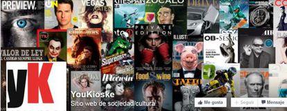 Una imagen del perfil de 'YouKioske' en Facebook.