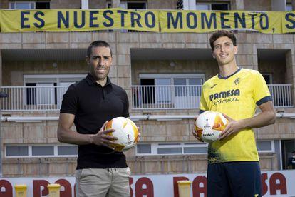 Bruno y Pau, la semana pasada en la ciudad deportiva del Villarreal. / ÁNGEL SÁNCHEZ