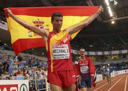 Mechaal, tras conseguir en marzo el oro en los 3.000m de los Europeos en pista cubierta.