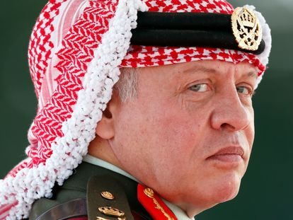 El rey Abdalá II de Jordania, en un desfile militar en Camberley (Inglaterra) en 2017.