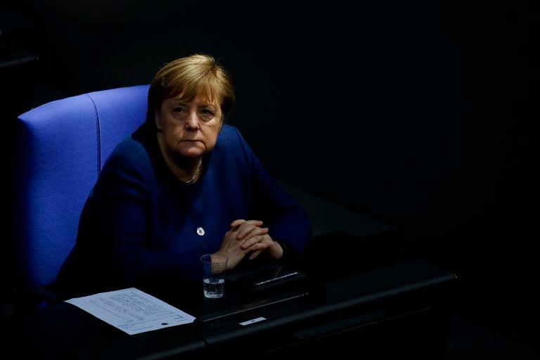 آنگلا مرکل صدراعظم آلمان روز سه شنبه در بوندستاگ در برلین.