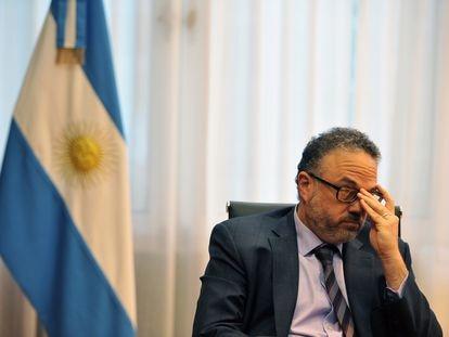 El ministro de Desarrollo Productivo de Argentina, Matías Kulfas, durante la entrevista con EL PAÍS en su despacho, el 31 de marzo de 2021.