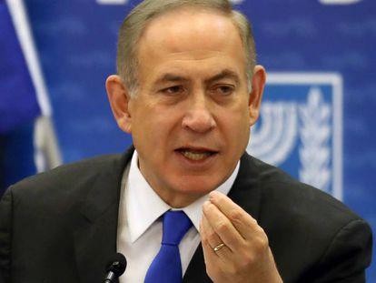 Netanyahu, durante una reunión de su partido, el Likud, en Jerusalén el pasado 2 de enero.