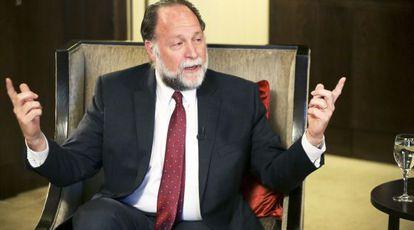Ricardo Hausmann, en el hotel Intercontinental de Madrid, durante la entrevista.