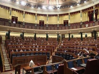 Hemiciclo del Congreso de los Diputados durante una sesión plenaria el 1 de octubre de este año.