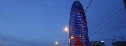 Torre Glòries, antigua Torre Agbar, centro del distrito 22@, donde se han instalado muchas firmas tecnológicas.