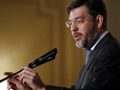 El secretario de Estado de Presupuestos, Alberto Nadal, en una conferencia organizada por Forum Europa