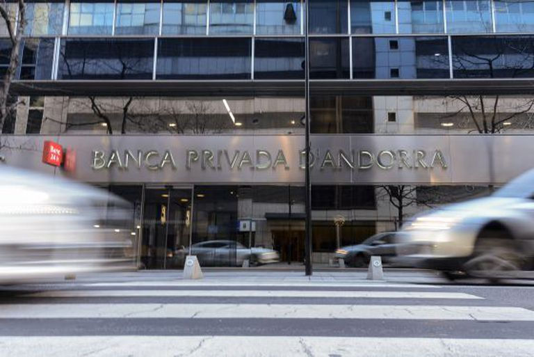 An office of the Banca Privada d'Andorra (BPA), in September 2019.