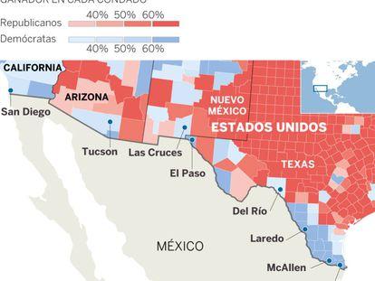 Resultados en los 21 condados de EE UU fronterizos con México.