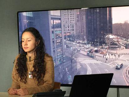 Berta Zúñiga Cáceres, hija de la indígena asesinada hace un año, pide justicia para su madre y su pueblo.